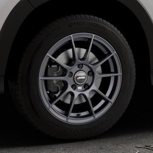 AUTEC Wizard Gunmetal matt Felge mit Reifen grau in 16Zoll Winterfelge Alufelge auf silbernem Honda HR-V II (RU) ⬇️ mit 15mm Tieferlegung ⬇️ Industriehalle 1 Thumbnail
