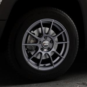 AUTEC Wizard Gunmetal matt Felge mit Reifen grau in 16Zoll Winterfelge Alufelge auf silbernem Jeep Renegade Typ BU ⬇️ mit 15mm Tieferlegung ⬇️ Industriehalle 1 Thumbnail