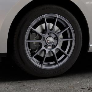 AUTEC Wizard Gunmetal matt Felge mit Reifen grau in 16Zoll Winterfelge Alufelge auf silbernem Seat Leon Typ 5F ST Facelift ⬇️ mit 15mm Tieferlegung ⬇️ Industriehalle 1 Thumbnail