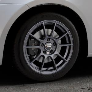 AUTEC Wizard Gunmetal matt Felge mit Reifen grau in 16Zoll Winterfelge Alufelge auf silbernem Suzuki Swift V Typ NZ FZ ⬇️ mit 15mm Tieferlegung ⬇️ Industriehalle 1 Thumbnail