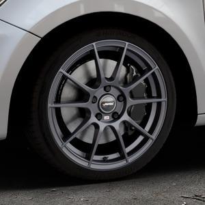 AUTEC Wizard Gunmetal matt Felge mit Reifen grau in 17Zoll Winterfelge Alufelge auf silbernem Audi A1 Typ 8X ⬇️ mit 15mm Tieferlegung ⬇️ Industriehalle 1 Thumbnail