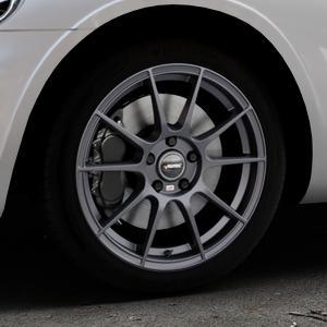 AUTEC Wizard Gunmetal matt Felge mit Reifen grau in 17Zoll Winterfelge Alufelge auf silbernem Chrysler PT Cruiser Cabriolet ⬇️ mit 15mm Tieferlegung ⬇️ Industriehalle 1 Thumbnail