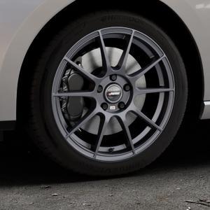 AUTEC Wizard Gunmetal matt Felge mit Reifen grau in 17Zoll Winterfelge Alufelge auf silbernem Seat Leon Typ 5F ST Facelift ⬇️ mit 15mm Tieferlegung ⬇️ Industriehalle 1 Thumbnail
