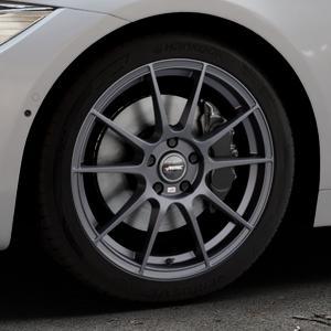 AUTEC Wizard Gunmetal matt Felge mit Reifen grau in 18Zoll Winterfelge Alufelge auf silbernem BMW 418d Typ F36 (Gran Coupe) 420d xDrive 420i 428i 435i 430d 440i 418i 430i 425d ⬇️ mit 15mm Tieferlegung ⬇️ Industriehalle 1 Thumbnail