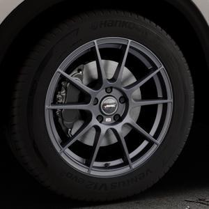 AUTEC Wizard Gunmetal matt Felge mit Reifen grau in 18Zoll Winterfelge Alufelge auf silbernem Mazda CX-5 Typ KF ⬇️ mit 15mm Tieferlegung ⬇️ Industriehalle 1 Thumbnail