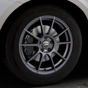AUTEC Wizard Gunmetal matt Felge mit Reifen grau in 18Zoll Winterfelge Alufelge auf silbernem Volvo XC60 Typ D Facelift ⬇️ mit 15mm Tieferlegung ⬇️ Industriehalle 1 Thumbnail