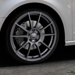 AUTEC Wizard Gunmetal matt Felge mit Reifen grau in 19Zoll Winterfelge Alufelge auf silbernem Audi A3 Typ 8V ⬇️ mit 15mm Tieferlegung ⬇️ Industriehalle 1 Thumbnail