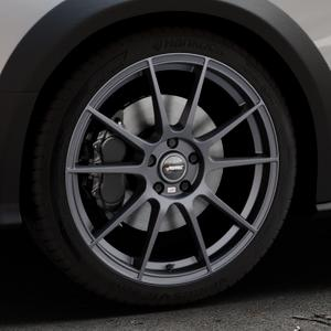 AUTEC Wizard Gunmetal matt Felge mit Reifen grau in 19Zoll Winterfelge Alufelge auf silbernem Audi A4 Typ 8KH/B8 Allroad ⬇️ mit 15mm Tieferlegung ⬇️ Industriehalle 1 Thumbnail