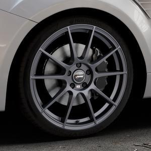 AUTEC Wizard Gunmetal matt Felge mit Reifen grau in 19Zoll Winterfelge Alufelge auf silbernem Ford Focus II Typ DA3 (Schrägheck) 2,5l RS 224kW (305 PS) RS500 257kW (349 ⬇️ mit 15mm Tieferlegung ⬇️ Industriehalle 1 Thumbnail