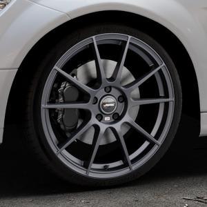 AUTEC Wizard Gunmetal matt Felge mit Reifen grau in 19Zoll Winterfelge Alufelge auf silbernem Mercedes C-Klasse Typ W204 Limousine ⬇️ mit 15mm Tieferlegung ⬇️ Industriehalle 1 Thumbnail