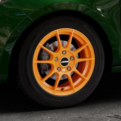 autec wizard felgen racing orange in 15 zoll. Black Bedroom Furniture Sets. Home Design Ideas