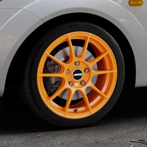 AUTEC Wizard Racing orange Felge mit Reifen in 16Zoll Winterfelge Alufelge auf silbernem Ford Fiesta V Typ JH1/JD3 ⬇️ mit 15mm Tieferlegung ⬇️ Industriehalle 1 Thumbnail