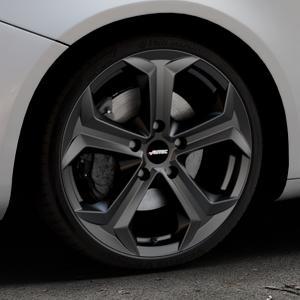 AUTEC Xenos Schwarz matt Felge mit Reifen in 19Zoll Winterfelge Alufelge auf silbernem Alfa Romeo Giulietta Typ 940 ⬇️ mit 15mm Tieferlegung ⬇️ Industriehalle 1 Thumbnail