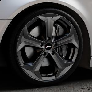 AUTEC Xenos Schwarz matt Felge mit Reifen in 20Zoll Winterfelge Alufelge auf silbernem Audi A6 Typ 4G/C7 (Avant) ⬇️ mit 15mm Tieferlegung ⬇️ Industriehalle 1 Thumbnail