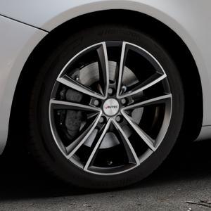 AUTEC Yucon Schwarz poliert Felge mit Reifen mehrfarbig in 17Zoll Alufelge auf silbernem Alfa Romeo Giulietta Typ 940 ⬇️ mit 15mm Tieferlegung ⬇️ Industriehalle 1 Thumbnail