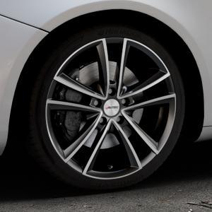 AUTEC Yucon Schwarz poliert Felge mit Reifen mehrfarbig in 18Zoll Alufelge auf silbernem Alfa Romeo Giulietta Typ 940 ⬇️ mit 15mm Tieferlegung ⬇️ Industriehalle 1 Thumbnail