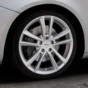AUTEC Yucon Titansilber Felge mit Reifen grau in 18Zoll Winterfelge Alufelge auf silbernem Alfa Romeo Giulietta Typ 940 ⬇️ mit 15mm Tieferlegung ⬇️ Industriehalle 1 Thumbnail
