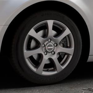 AUTEC Zenit Anthrazit matt lackiert Felge mit Reifen grau in 16Zoll Winterfelge Alufelge auf silbernem Citroen C5 II ⬇️ mit 15mm Tieferlegung ⬇️ Industriehalle 1 Thumbnail