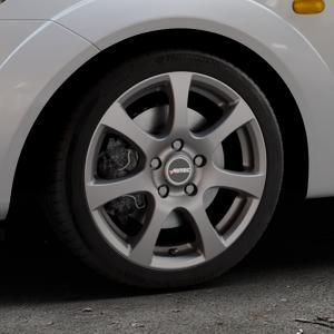 AUTEC Zenit Anthrazit matt lackiert Felge mit Reifen grau in 16Zoll Winterfelge Alufelge auf silbernem Ford Fiesta V Typ JH1/JD3 ⬇️ mit 15mm Tieferlegung ⬇️ Industriehalle 1 Thumbnail