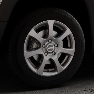 AUTEC Zenit Anthrazit matt lackiert Felge mit Reifen grau in 16Zoll Winterfelge Alufelge auf silbernem Jeep Renegade Typ BU ⬇️ mit 15mm Tieferlegung ⬇️ Industriehalle 1 Thumbnail