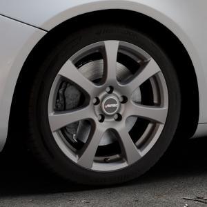 AUTEC Zenit Anthrazit matt lackiert Felge mit Reifen grau in 17Zoll Winterfelge Alufelge auf silbernem Alfa Romeo Giulietta Typ 940 ⬇️ mit 15mm Tieferlegung ⬇️ Industriehalle 1 Thumbnail