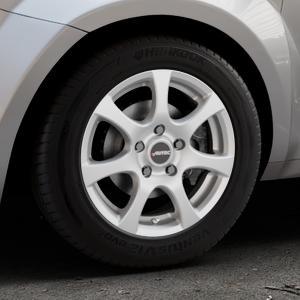 AUTEC Zenit Brillantsilber lackiert Felge mit Reifen in 15Zoll Winterfelge Alufelge auf silbernem Alfa Romeo Mito Typ 955 ⬇️ mit 15mm Tieferlegung ⬇️ Industriehalle 1 Thumbnail