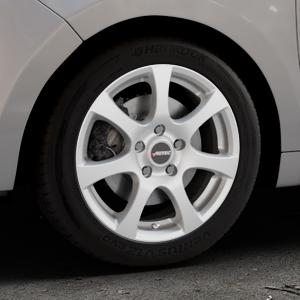 AUTEC Zenit Brillantsilber lackiert Felge mit Reifen in 16Zoll Winterfelge Alufelge auf silbernem Citroen C3 Picasso ⬇️ mit 15mm Tieferlegung ⬇️ Industriehalle 1 Thumbnail