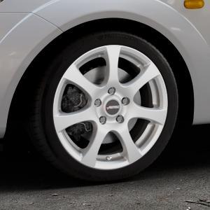 AUTEC Zenit Brillantsilber lackiert Felge mit Reifen in 16Zoll Winterfelge Alufelge auf silbernem Ford Fiesta V Typ JH1/JD3 ⬇️ mit 15mm Tieferlegung ⬇️ Industriehalle 1 Thumbnail