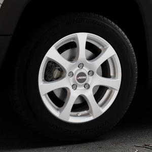 AUTEC Zenit Brillantsilber lackiert Felge mit Reifen in 16Zoll Winterfelge Alufelge auf silbernem Jeep Renegade Typ BU ⬇️ mit 15mm Tieferlegung ⬇️ Industriehalle 1 Thumbnail