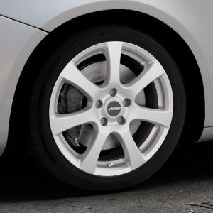 AUTEC Zenit Brillantsilber lackiert Felge mit Reifen in 17Zoll Winterfelge Alufelge auf silbernem Alfa Romeo Giulietta Typ 940 ⬇️ mit 15mm Tieferlegung ⬇️ Industriehalle 1 Thumbnail