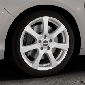 AUTEC Zenit Brillantsilber lackiert Felge mit Reifen in 17Zoll Winterfelge Alufelge auf silbernem Citroen C4 Typ N ⬇️ mit 15mm Tieferlegung ⬇️ Industriehalle 1 Thumbnail