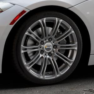 AVUS Racing AC-MB1 ANTHRACITE Felge mit Reifen grau anthrazit in 18Zoll Winterfelge Alufelge auf silbernem BMW Z4 Roadster Typ E89 (Z89, ZR) ⬇️ mit 15mm Tieferlegung ⬇️ Industriehalle 1 Thumbnail