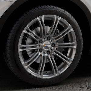 AVUS Racing AC-MB1 ANTHRACITE Felge mit Reifen grau anthrazit in 19Zoll Winterfelge Alufelge auf silbernem BMW X3 Typ F25 (X3, X-N1) ⬇️ mit 15mm Tieferlegung ⬇️ Industriehalle 1 Thumbnail