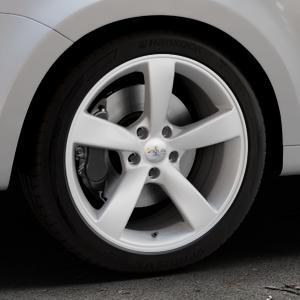 AVUS Racing AF10 HYPER SILVER Felge mit Reifen silber in 18Zoll Winterfelge Alufelge auf silbernem Volkswagen (VW) Sharan III Typ 7N (15->) ⬇️ mit 15mm Tieferlegung ⬇️ Industriehalle 1 Thumbnail