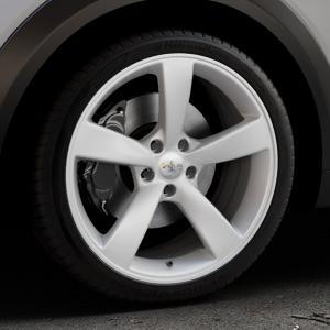 AVUS Racing AF10 HYPER SILVER Felge mit Reifen silber in 19Zoll Winterfelge Alufelge auf silbernem Mazda CX-3 Typ DJ1 ⬇️ mit 15mm Tieferlegung ⬇️ Industriehalle 1 Thumbnail