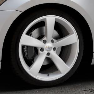 AVUS Racing AF10 HYPER SILVER Felge mit Reifen silber in 19Zoll Winterfelge Alufelge auf silbernem Volkswagen (VW) Passat 3C/B8 Limousine Variant ⬇️ mit 15mm Tieferlegung ⬇️ Industriehalle 1 Thumbnail