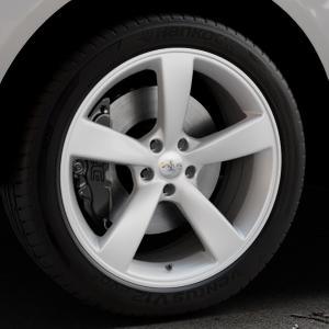 AVUS Racing AF10 HYPER SILVER Felge mit Reifen silber in 20Zoll Winterfelge Alufelge auf silbernem Mercedes M-Klasse Typ W166 ⬇️ mit 15mm Tieferlegung ⬇️ Industriehalle 1 Thumbnail