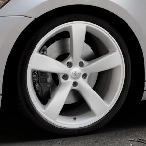 AVUS Racing AF10 HYPER SILVER Felge mit Reifen silber in 20Zoll Winterfelge Alufelge auf silbernem Volkswagen (VW) Passat 3C/B8 Limousine Variant ⬇️ mit 15mm Tieferlegung ⬇️ Industriehalle 1 Thumbnail