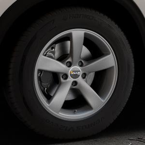 AVUS Racing AF10 MATT ANTHRACITE Felge mit Reifen grau anthrazit in 17Zoll Winterfelge Alufelge auf silbernem Mazda CX-5 Typ KF ⬇️ mit 15mm Tieferlegung ⬇️ Industriehalle 1 Thumbnail