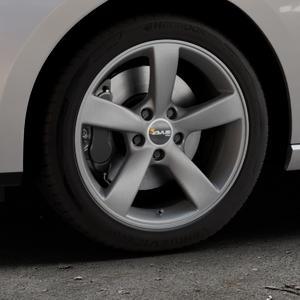 AVUS Racing AF10 MATT ANTHRACITE Felge mit Reifen grau anthrazit in 17Zoll Winterfelge Alufelge auf silbernem Seat Leon Typ 5F ST Facelift ⬇️ mit 15mm Tieferlegung ⬇️ Industriehalle 1 Thumbnail