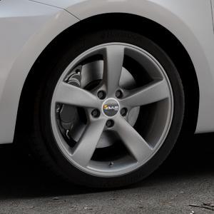 AVUS Racing AF10 MATT ANTHRACITE Felge mit Reifen grau anthrazit in 17Zoll Winterfelge Alufelge auf silbernem Suzuki Swift VI Typ AZ ⬇️ mit 15mm Tieferlegung ⬇️ Industriehalle 1 Thumbnail