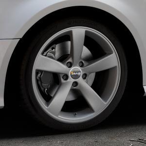 AVUS Racing AF10 MATT ANTHRACITE Felge mit Reifen grau anthrazit in 18Zoll Winterfelge Alufelge auf silbernem Audi A3 Typ 8V Facelift ⬇️ mit 15mm Tieferlegung ⬇️ Industriehalle 1 Thumbnail