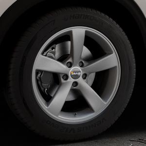 AVUS Racing AF10 MATT ANTHRACITE Felge mit Reifen grau anthrazit in 18Zoll Winterfelge Alufelge auf silbernem Mazda CX-5 Typ KF ⬇️ mit 15mm Tieferlegung ⬇️ Industriehalle 1 Thumbnail