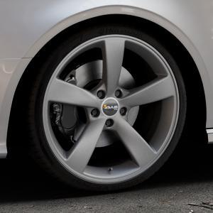 AVUS Racing AF10 MATT ANTHRACITE Felge mit Reifen grau anthrazit in 19Zoll Winterfelge Alufelge auf silbernem Audi A3 Typ 8V (Cabriolet) ⬇️ mit 15mm Tieferlegung ⬇️ Industriehalle 1 Thumbnail