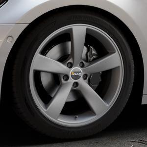 AVUS Racing AF10 MATT ANTHRACITE Felge mit Reifen grau anthrazit in 19Zoll Winterfelge Alufelge auf silbernem Audi A7 Typ F2/C8 (Sportback) ⬇️ mit 15mm Tieferlegung ⬇️ Industriehalle 1 Thumbnail