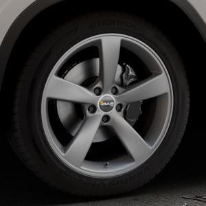 AVUS Racing AF10 MATT ANTHRACITE Felge mit Reifen grau anthrazit in 19Zoll Winterfelge Alufelge auf silbernem BMW X3 Typ G01 (G3X) ⬇️ mit 15mm Tieferlegung ⬇️ Industriehalle 1 Thumbnail