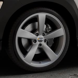 AVUS Racing AF10 MATT ANTHRACITE Felge mit Reifen grau anthrazit in 19Zoll Winterfelge Alufelge auf silbernem Hyundai Kona Typ OS ⬇️ mit 15mm Tieferlegung ⬇️ Industriehalle 1 Thumbnail