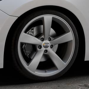 AVUS Racing AF10 MATT ANTHRACITE Felge mit Reifen grau anthrazit in 19Zoll Winterfelge Alufelge auf silbernem Mazda 3 (13-) Stufenheck (BM) Sport (17-) Facelift Fließheck ⬇️ mit 15mm Tieferlegung ⬇️ Industriehalle 1 Thumbnail
