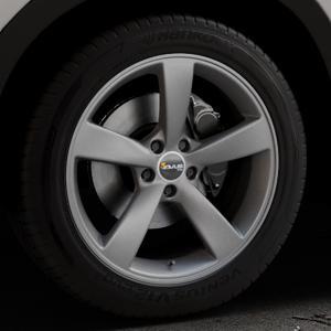 AVUS Racing AF10 MATT ANTHRACITE Felge mit Reifen grau anthrazit in 19Zoll Winterfelge Alufelge auf silbernem Mazda CX-5 Typ KE ⬇️ mit 15mm Tieferlegung ⬇️ Industriehalle 1 Thumbnail
