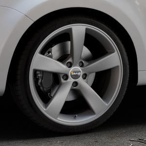 AVUS Racing AF10 MATT ANTHRACITE Felge mit Reifen grau anthrazit in 19Zoll Winterfelge Alufelge auf silbernem Seat Alhambra II Typ 7N Facelift ⬇️ mit 15mm Tieferlegung ⬇️ Industriehalle 1 Thumbnail